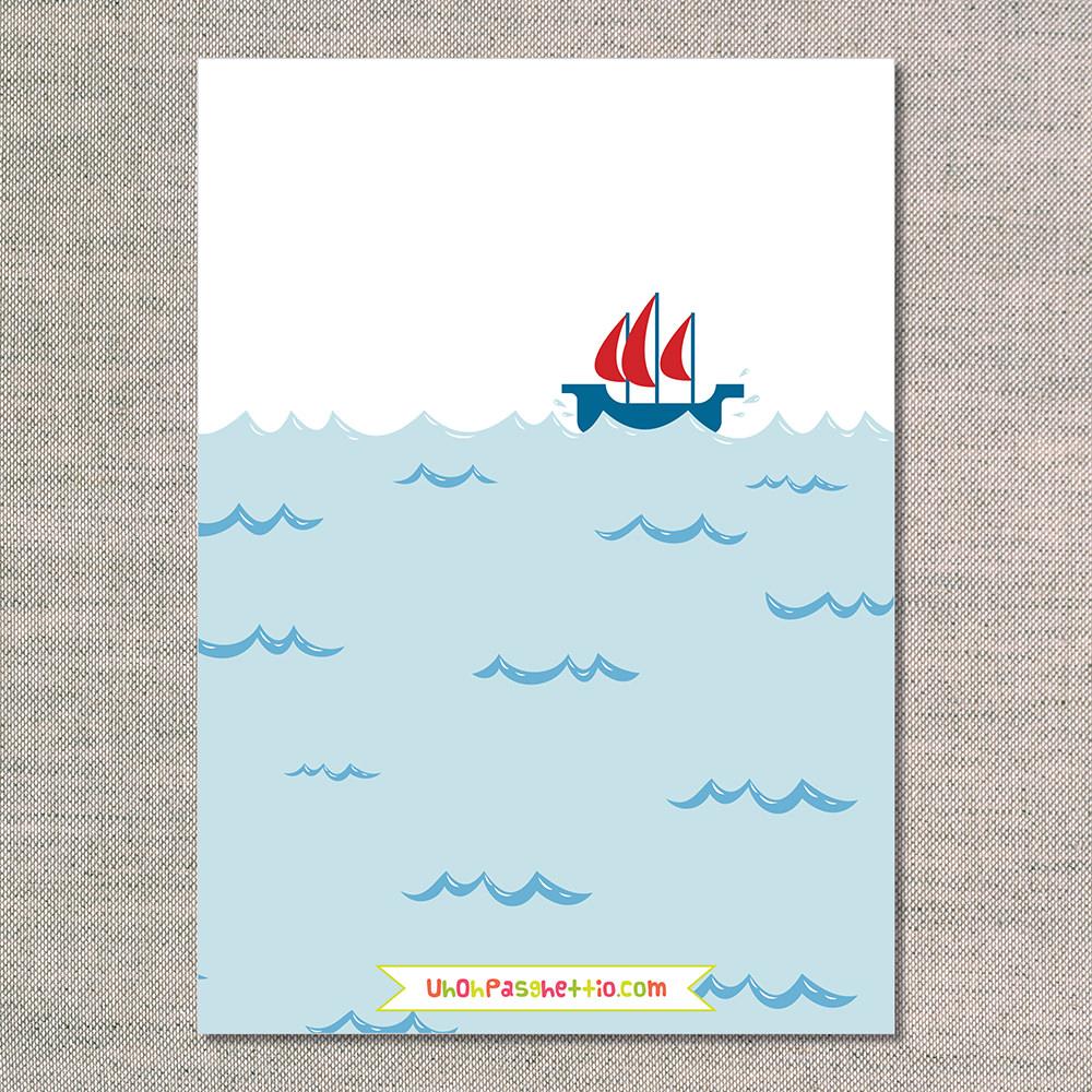 Baby Shower Invitations: Ahoy Itu0027s A Boy   Back