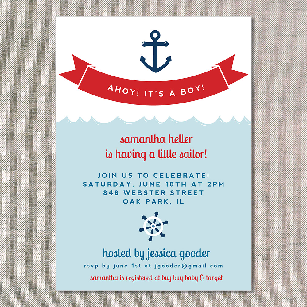 Sailor Baby Shower Invitations as great invitation design