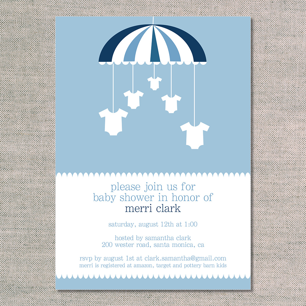 baby shower invitations onesies on a mobile stationery baby shower