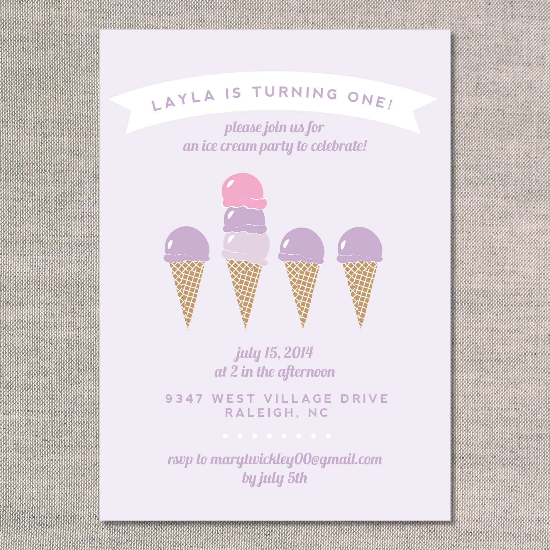 kids birthday invitations ice cream party uh oh pasghettio
