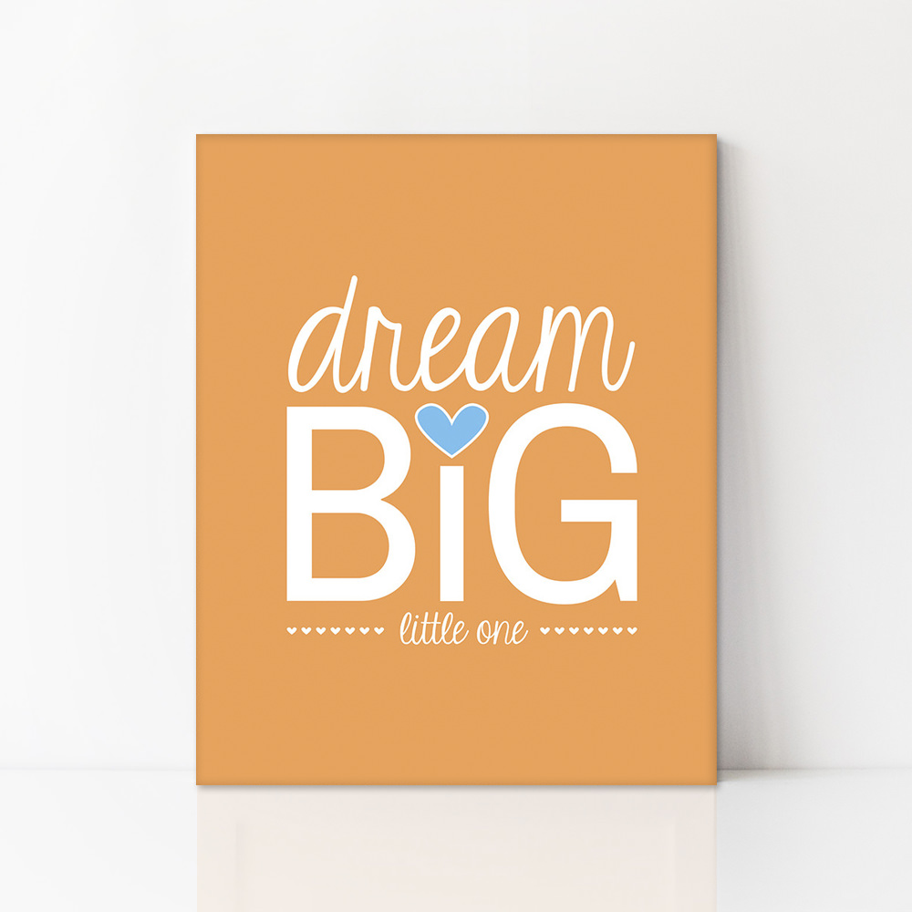 Best dream big little one canvas - uh oh pasghettio CM92